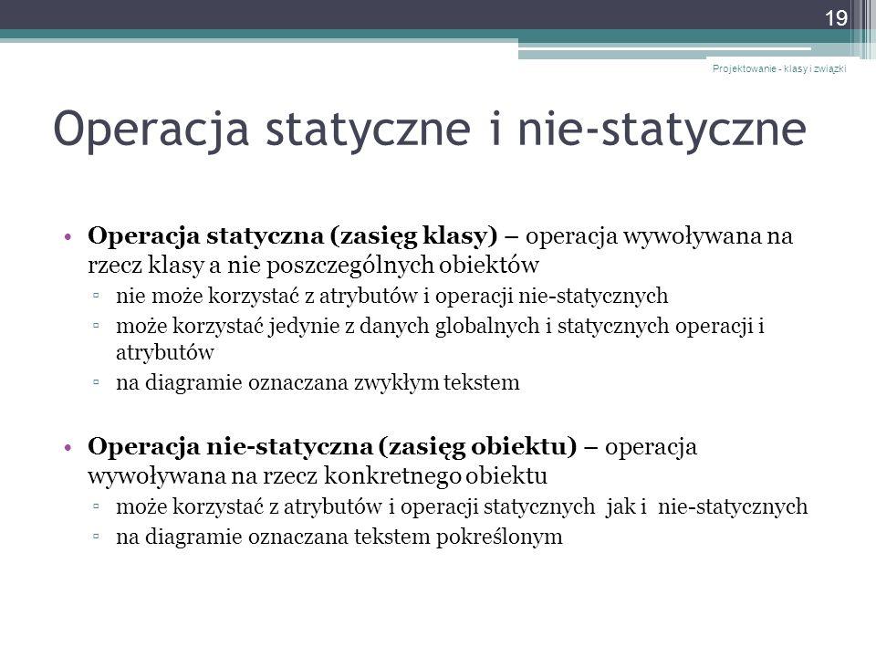 Operacja statyczne i nie-statyczne