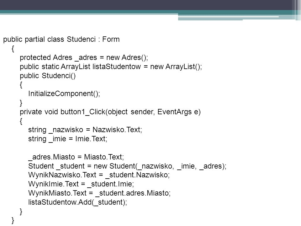 public partial class Studenci : Form