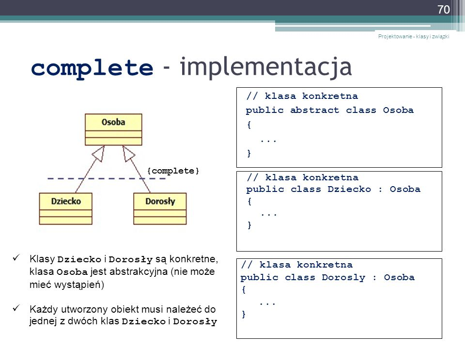 complete - implementacja