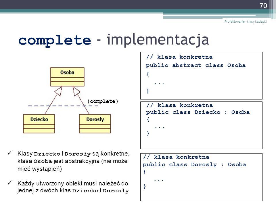 complete - implementacja