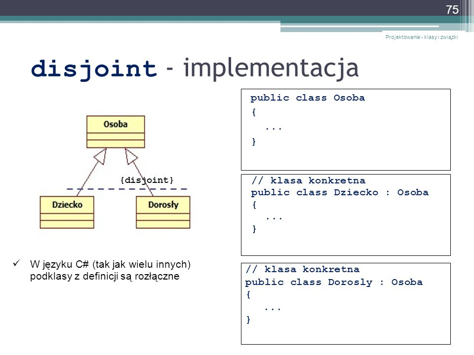 disjoint - implementacja