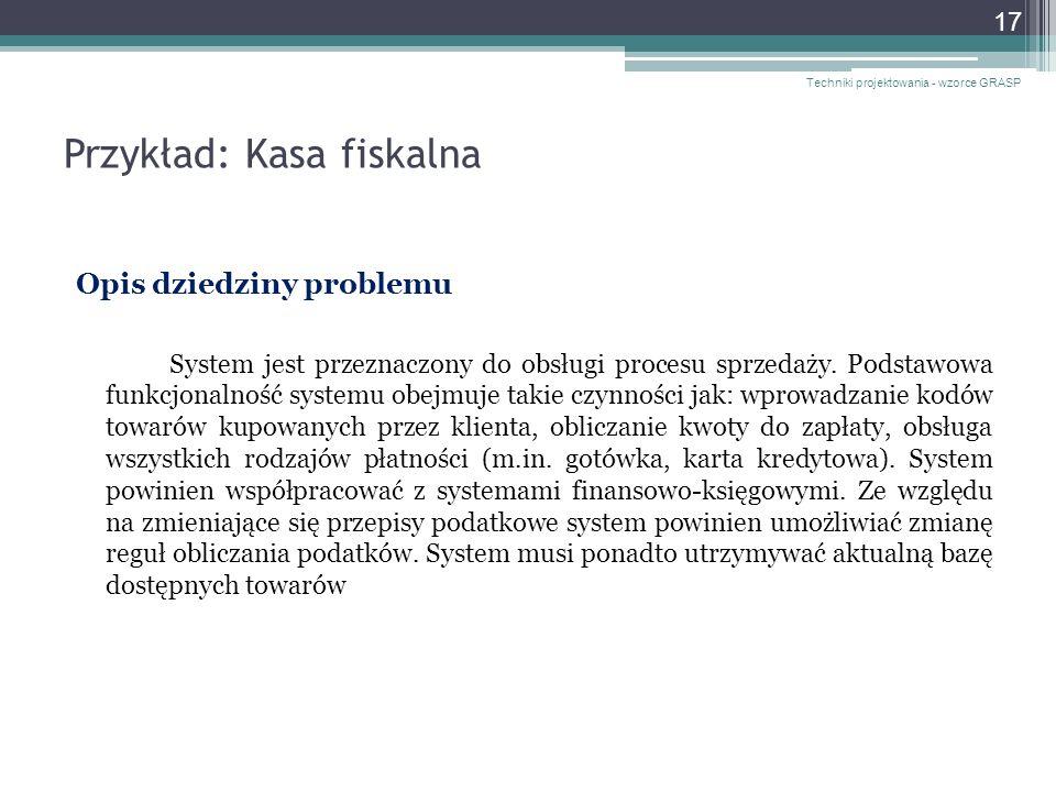 Przykład: Kasa fiskalna