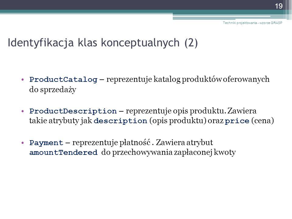 Identyfikacja klas konceptualnych (2)