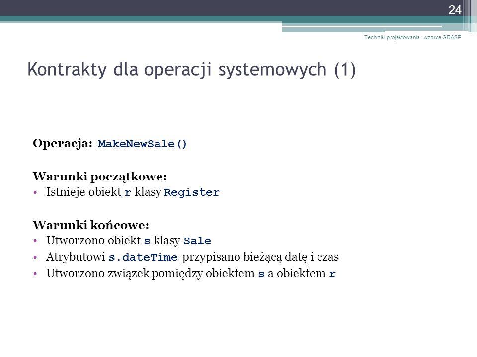 Kontrakty dla operacji systemowych (1)