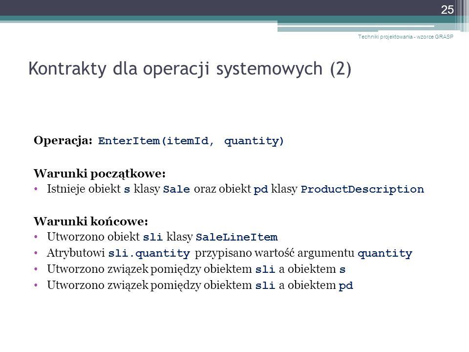 Kontrakty dla operacji systemowych (2)