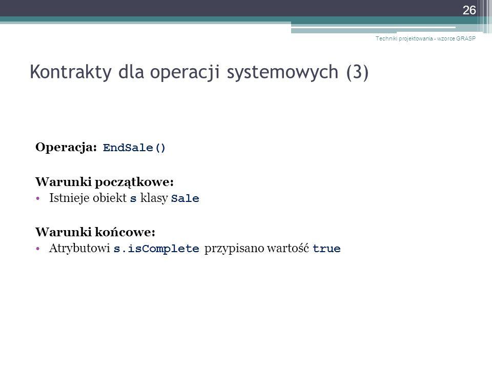 Kontrakty dla operacji systemowych (3)