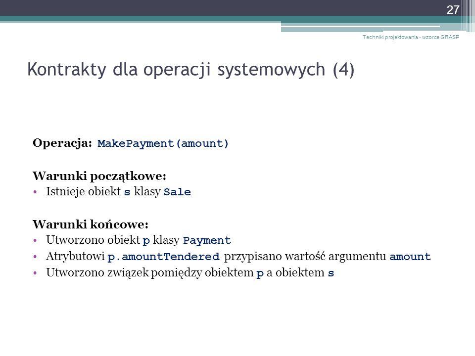 Kontrakty dla operacji systemowych (4)