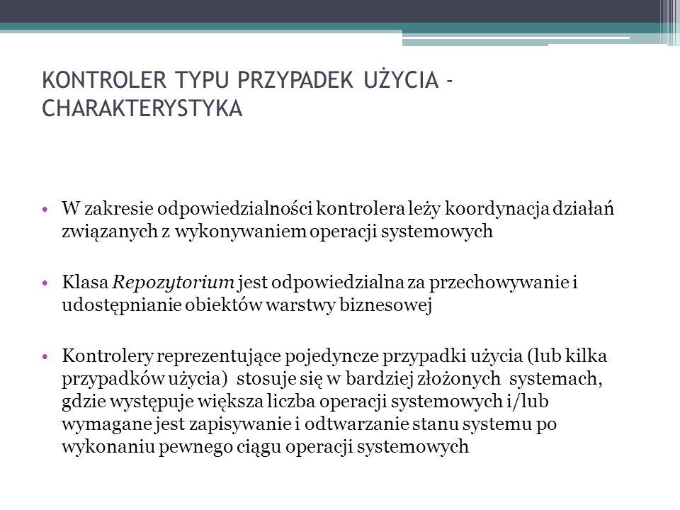 KONTROLER TYPU PRZYPADEK UŻYCIA - CHARAKTERYSTYKA