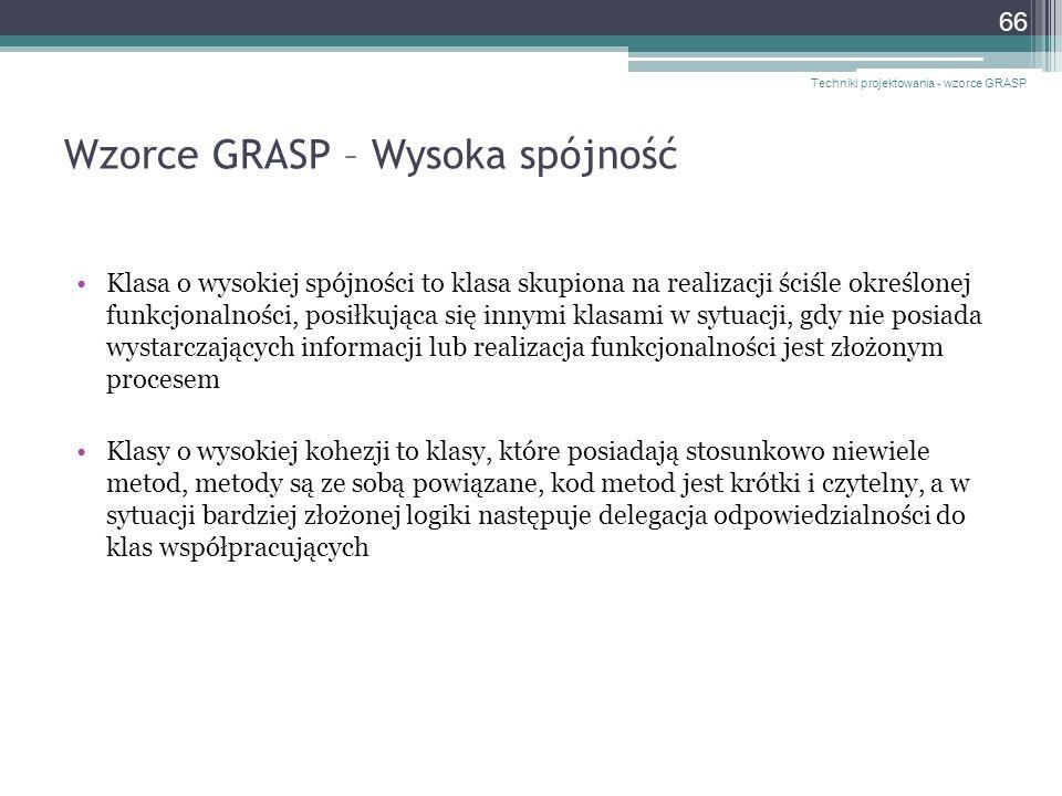 Wzorce GRASP – Wysoka spójność