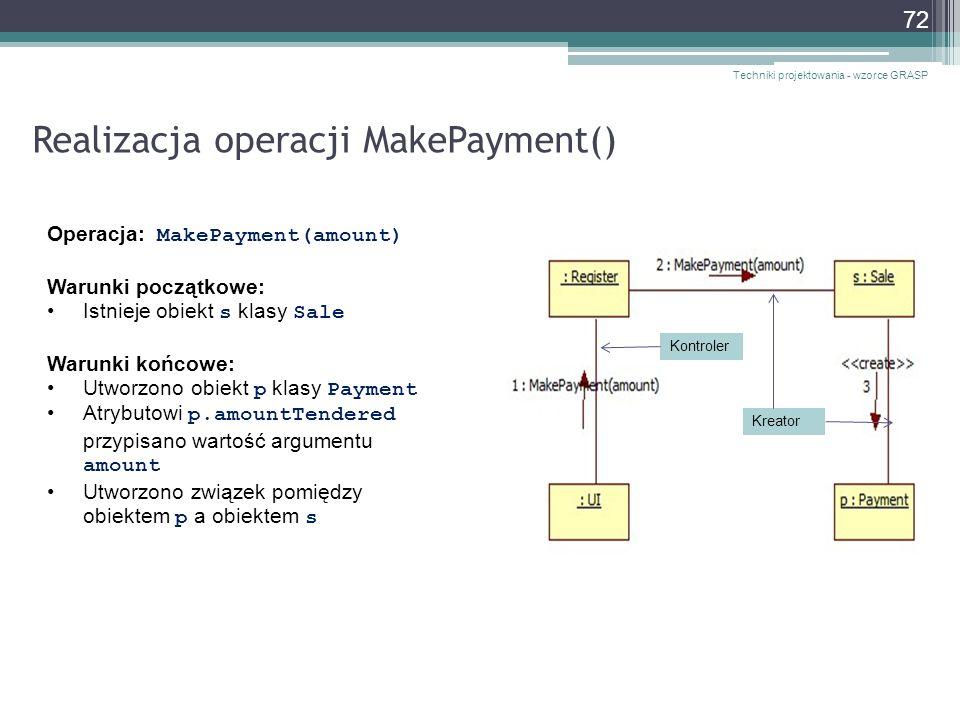 Realizacja operacji MakePayment()