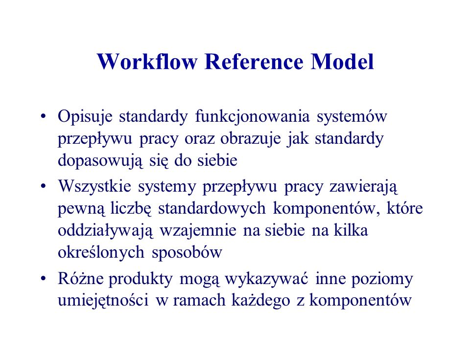 Workflow Reference Model