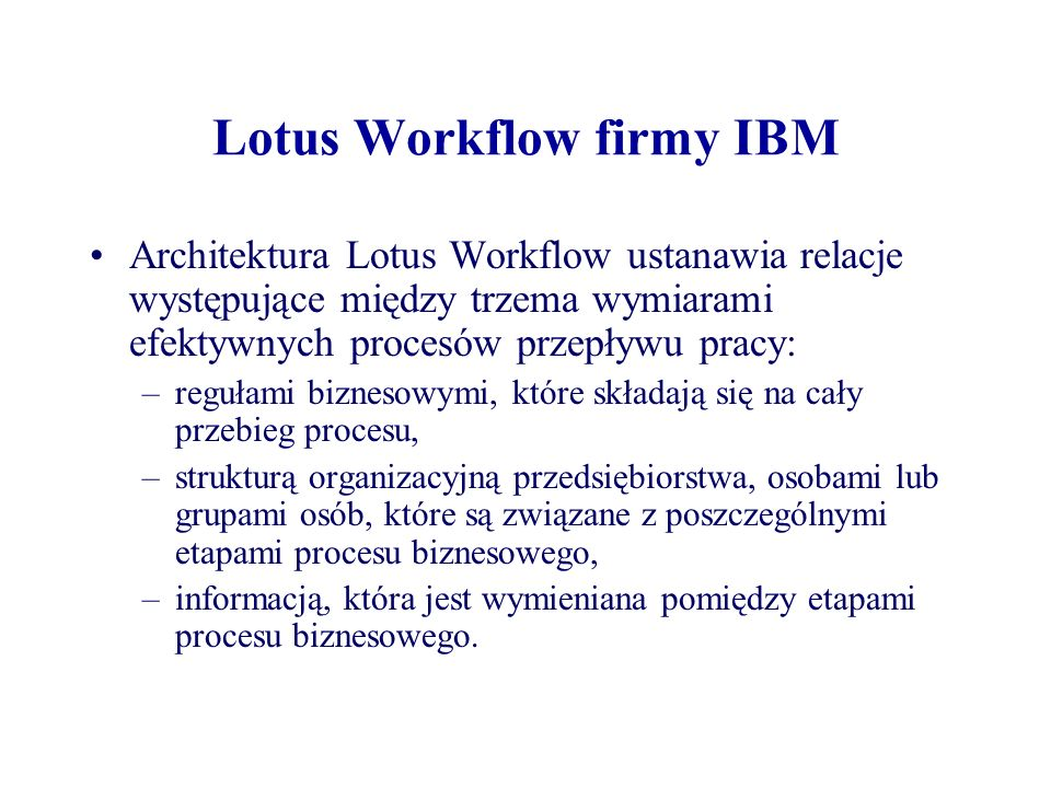 Lotus Workflow firmy IBM