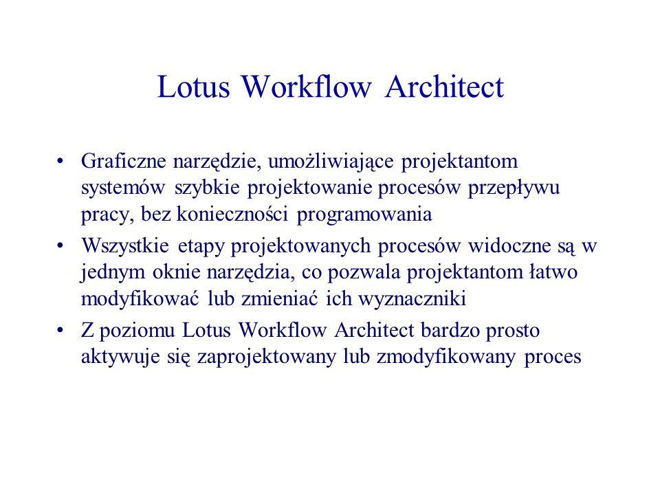 Lotus Workflow Architect