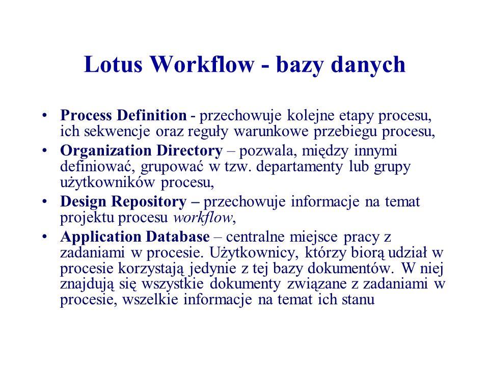 Lotus Workflow - bazy danych