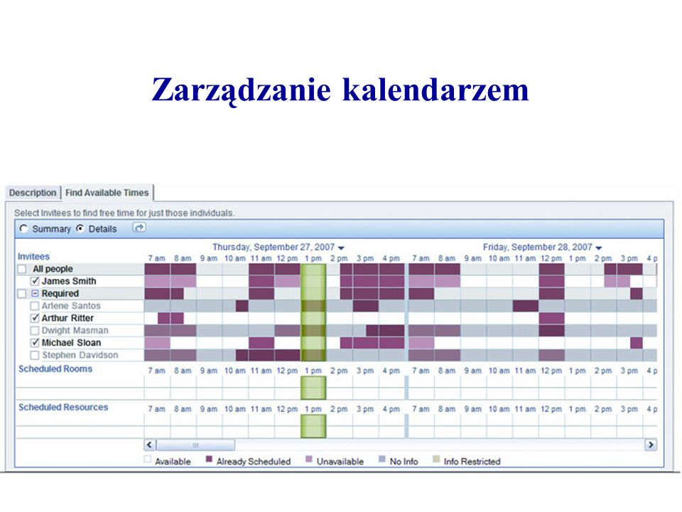 Zarządzanie kalendarzem