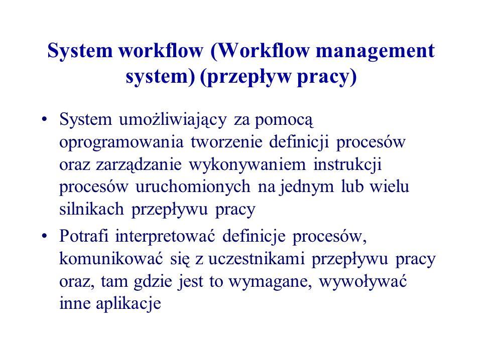 System workflow (Workflow management system) (przepływ pracy)