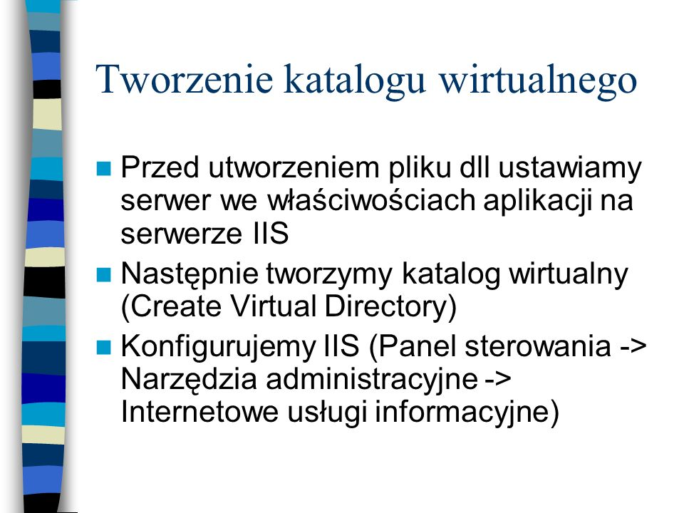 Tworzenie katalogu wirtualnego