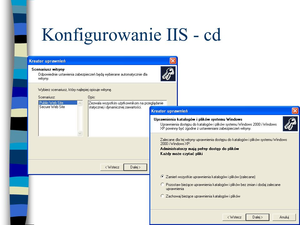 Konfigurowanie IIS - cd