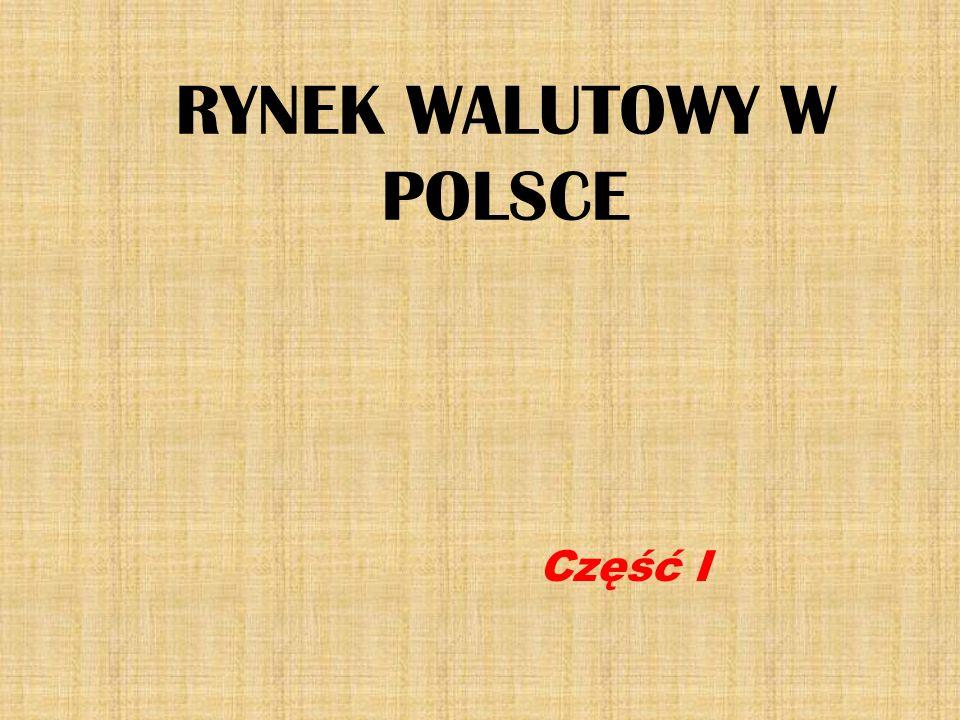 RYNEK WALUTOWY W POLSCE
