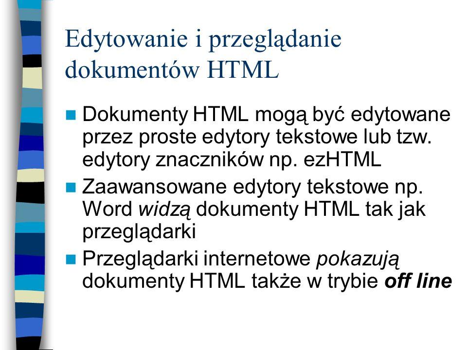 Edytowanie i przeglądanie dokumentów HTML