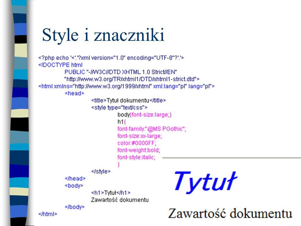 Style i znaczniki