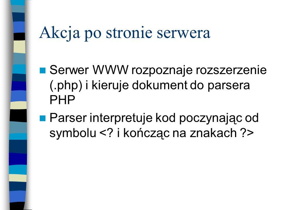 Akcja po stronie serwera
