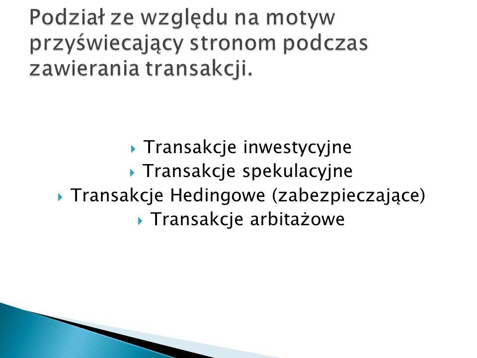 Podział ze względu na motyw przyświecający stronom podczas zawierania transakcji.