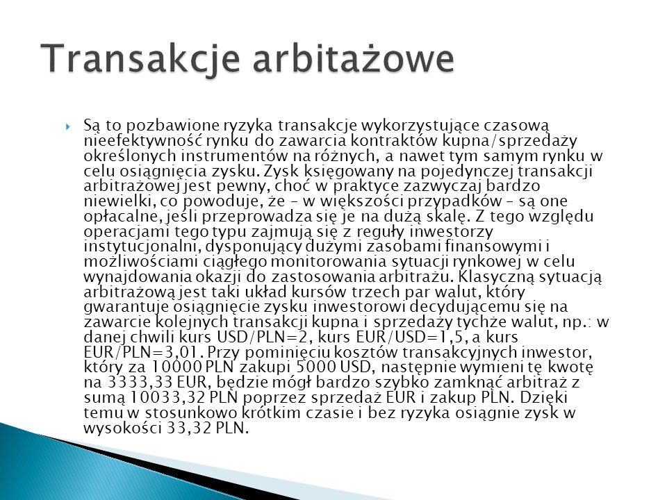 Transakcje arbitażowe