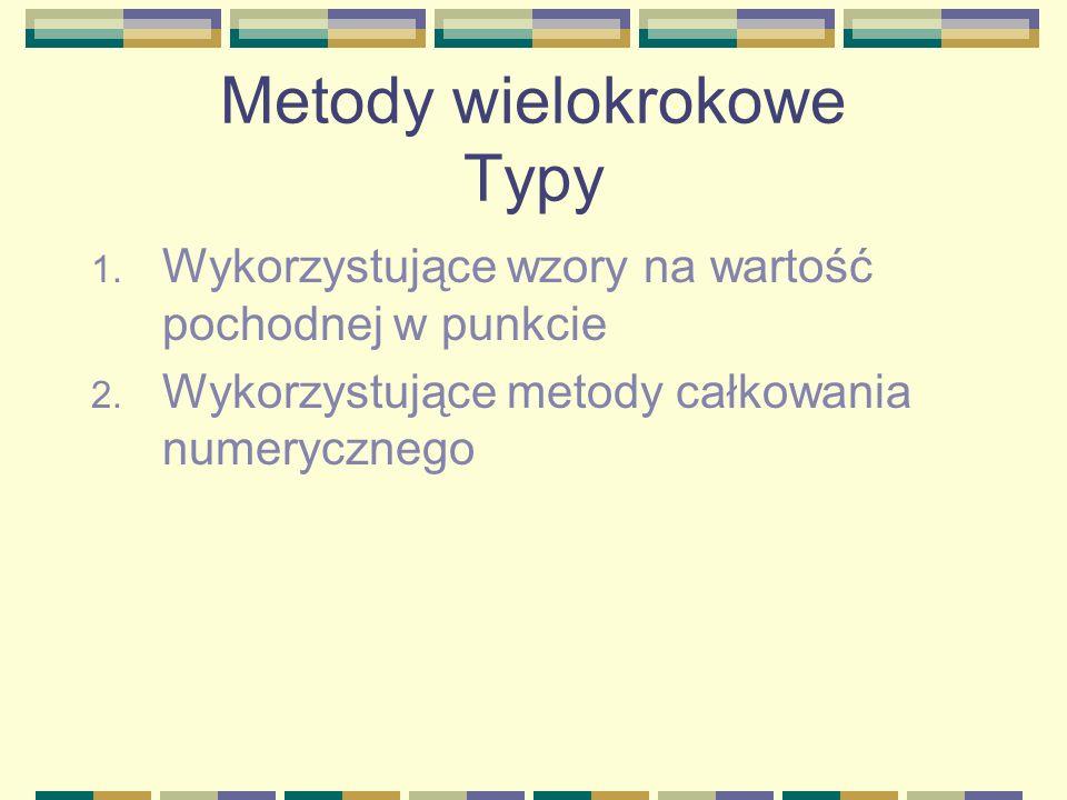 Metody wielokrokowe Typy
