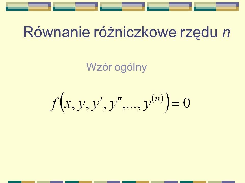 Równanie różniczkowe rzędu n