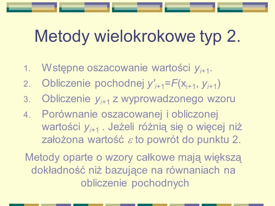 Metody wielokrokowe typ 2.