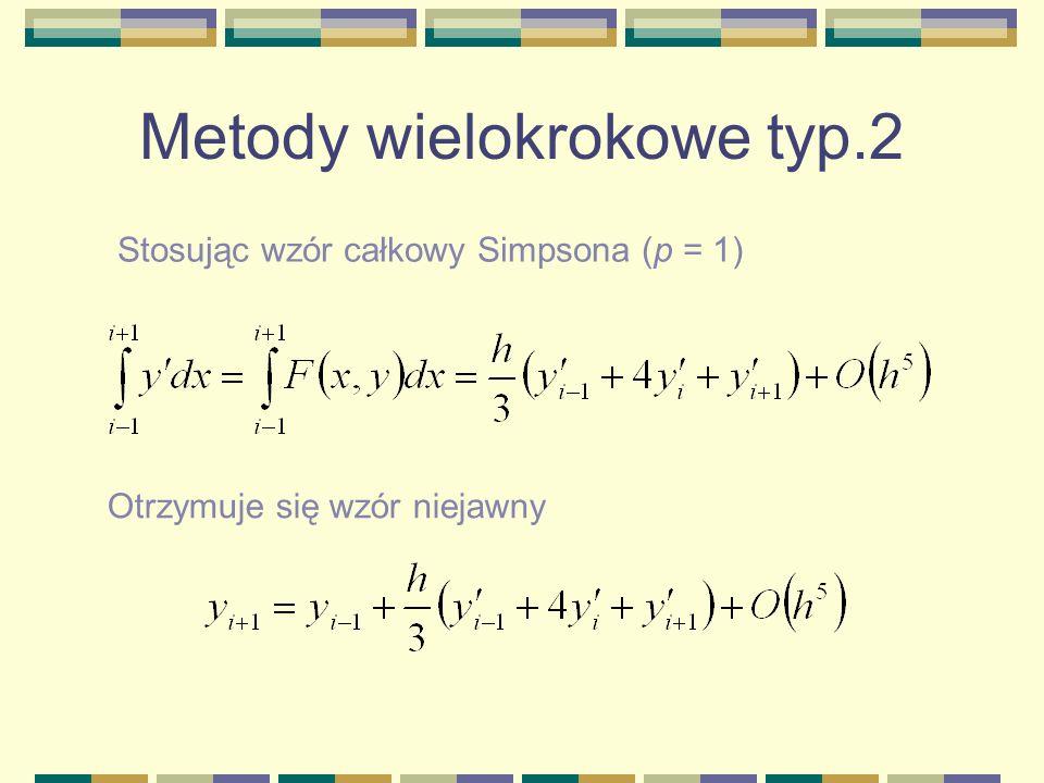 Metody wielokrokowe typ.2