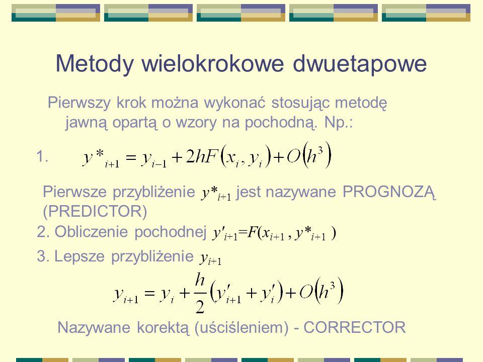 Metody wielokrokowe dwuetapowe
