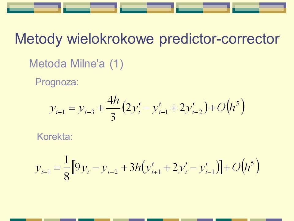 Metody wielokrokowe predictor-corrector