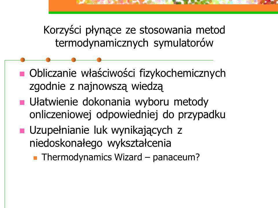 Korzyści płynące ze stosowania metod termodynamicznych symulatorów