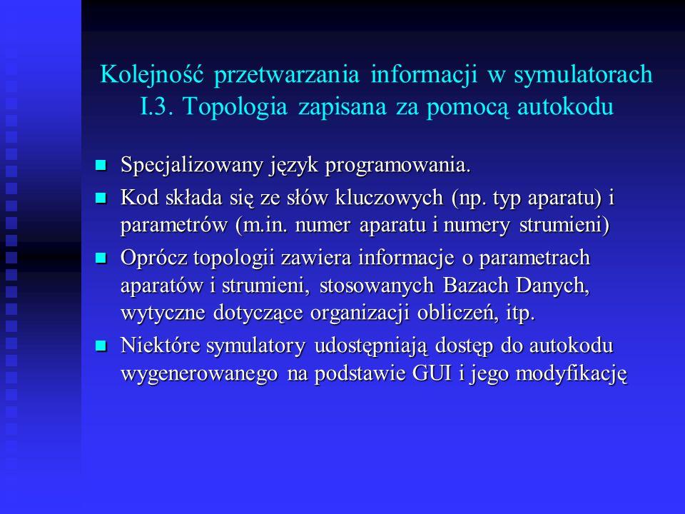 Kolejność przetwarzania informacji w symulatorach I. 3