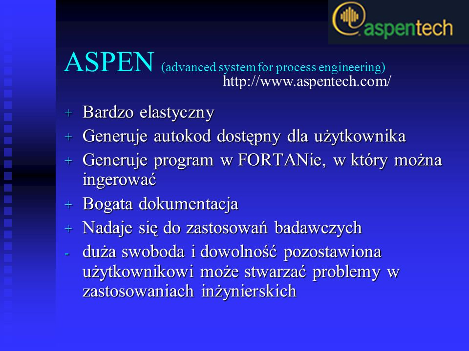 ASPEN (advanced system for process engineering)