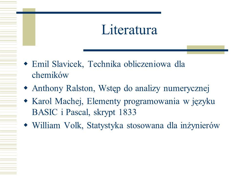 Literatura Emil Slavicek, Technika obliczeniowa dla chemików