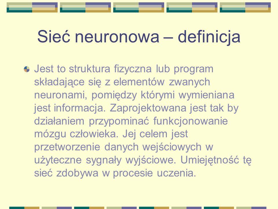 Sieć neuronowa – definicja