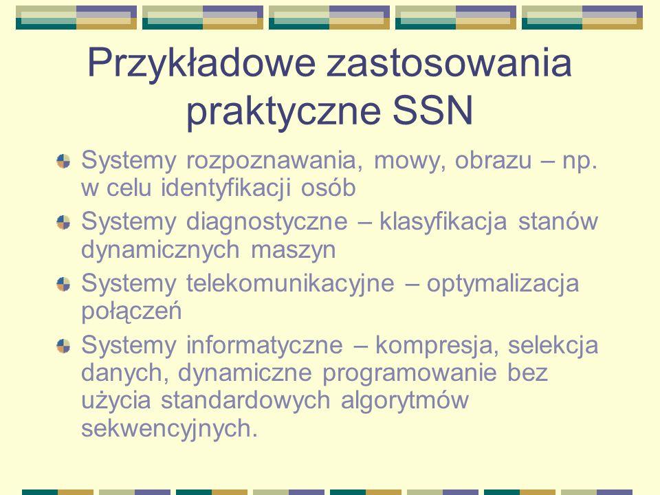 Przykładowe zastosowania praktyczne SSN
