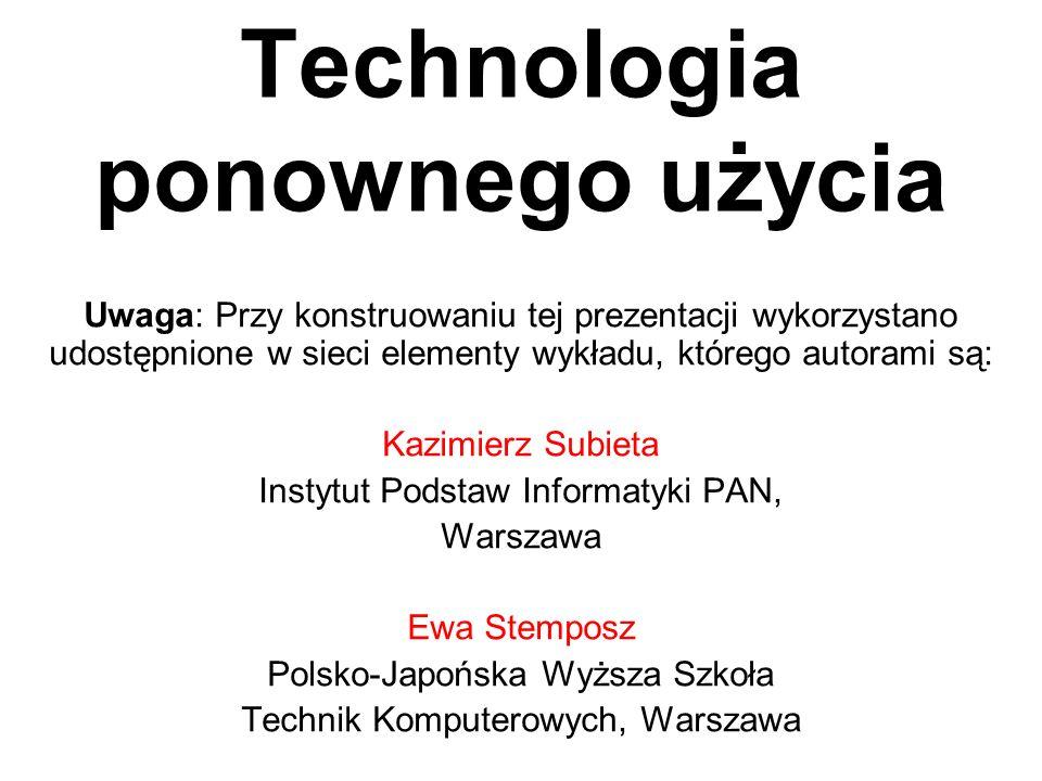 Technologia ponownego użycia