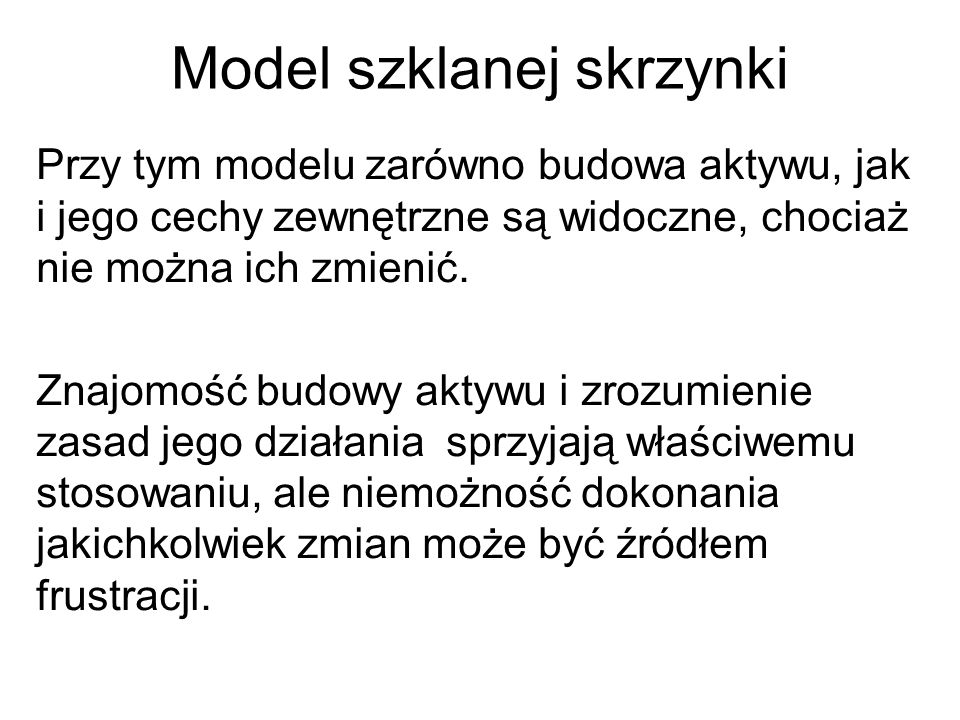 Model szklanej skrzynki