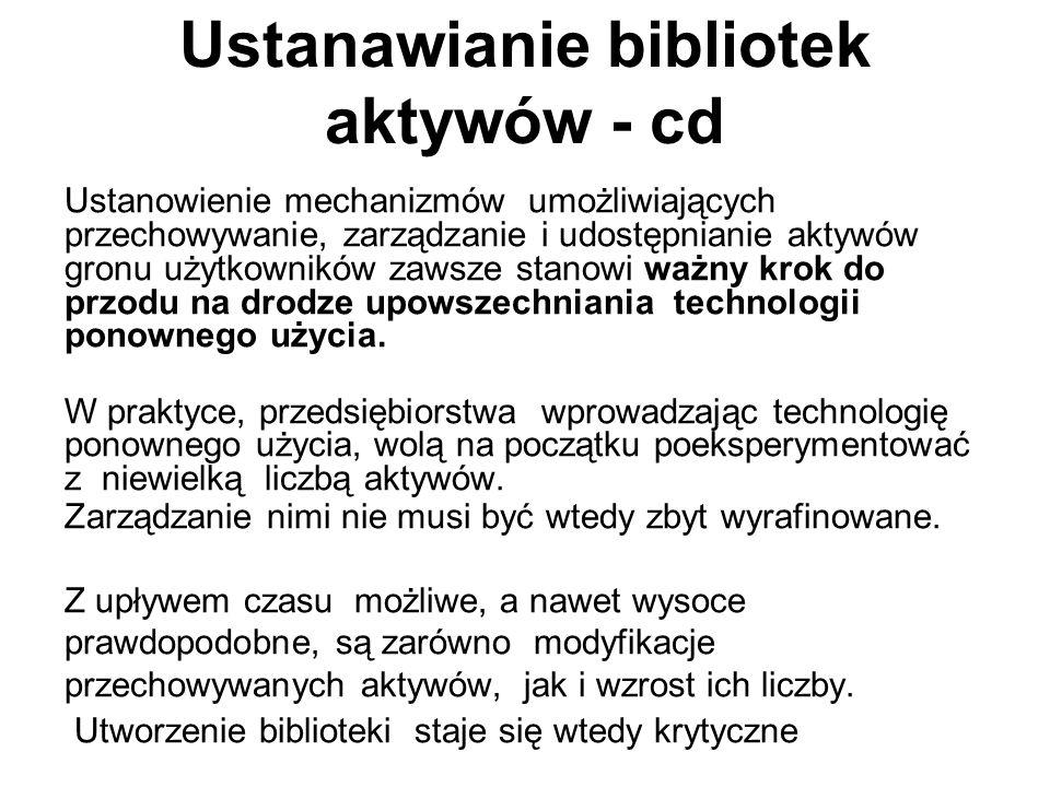 Ustanawianie bibliotek aktywów - cd
