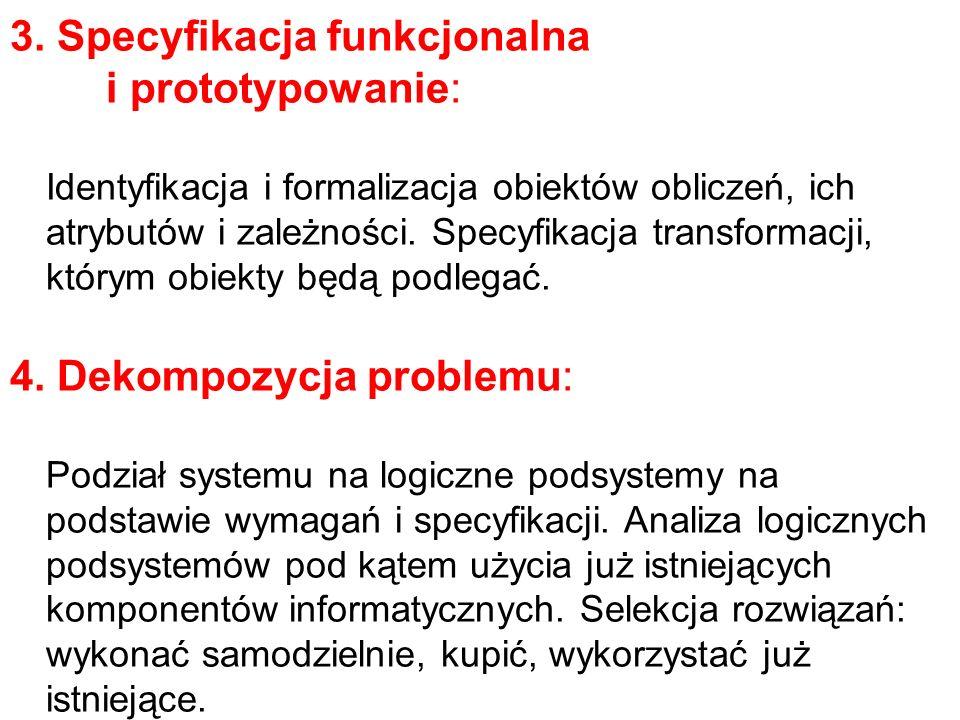 3. Specyfikacja funkcjonalna