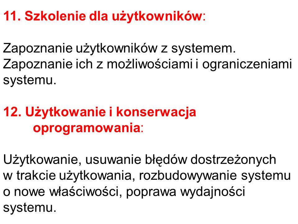 11. Szkolenie dla użytkowników: Zapoznanie użytkowników z systemem