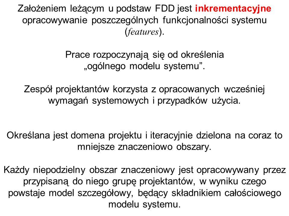 Założeniem leżącym u podstaw FDD jest inkrementacyjne opracowywanie poszczególnych funkcjonalności systemu (features).