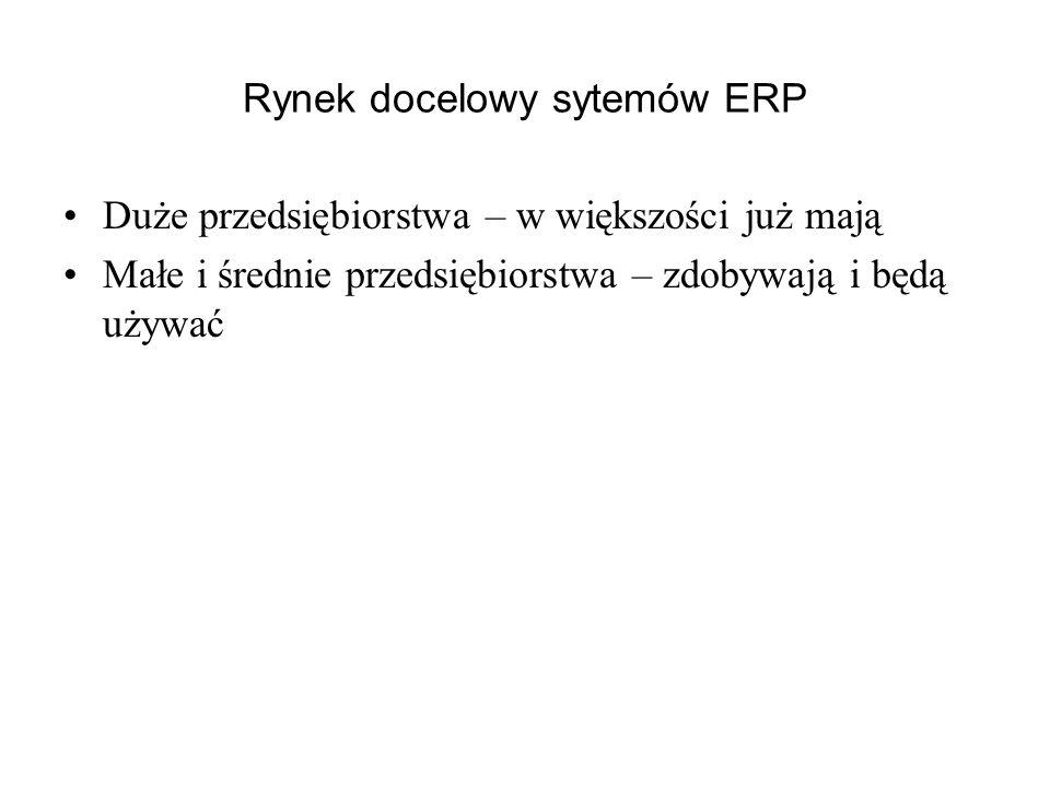 Rynek docelowy sytemów ERP
