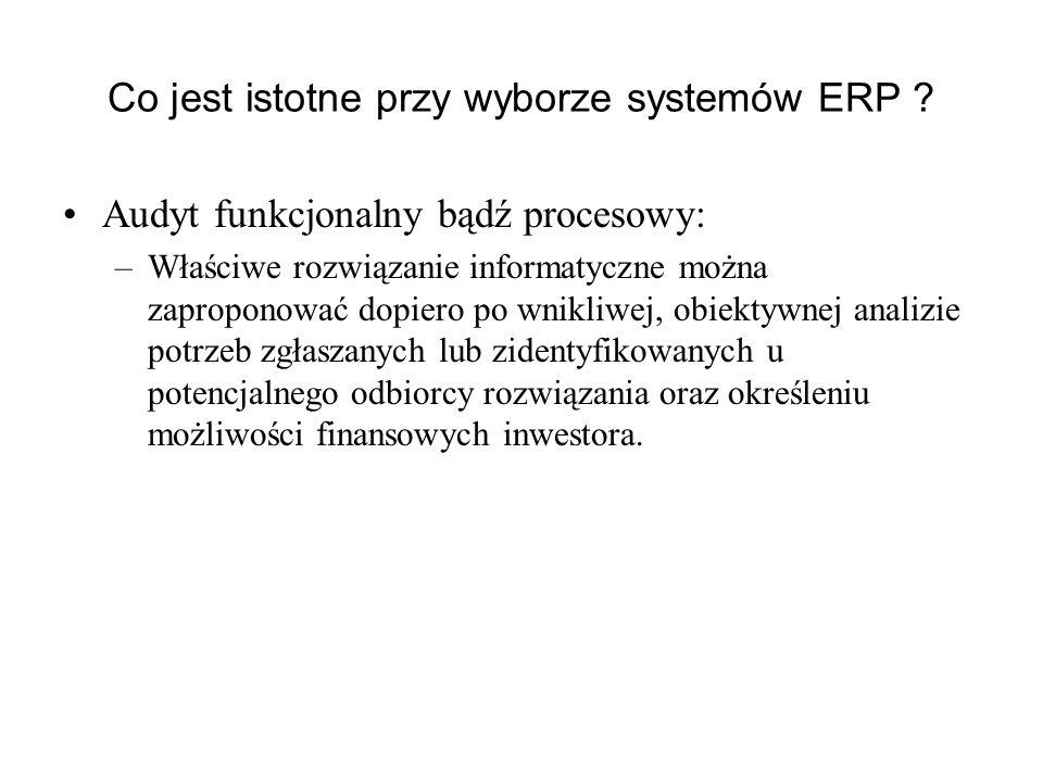 Co jest istotne przy wyborze systemów ERP