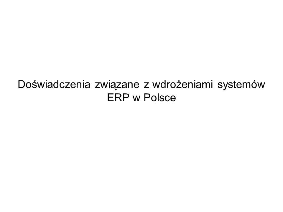 Doświadczenia związane z wdrożeniami systemów ERP w Polsce
