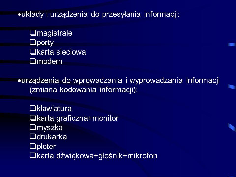 układy i urządzenia do przesyłania informacji: